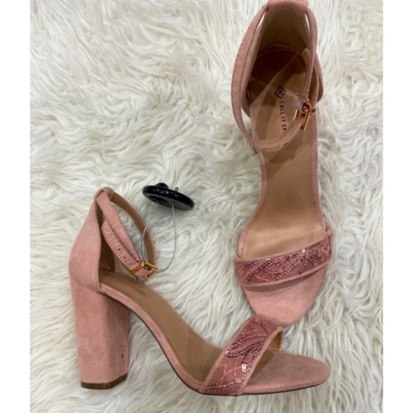 New with Tags Call it Spring Pale Pink Block Heels